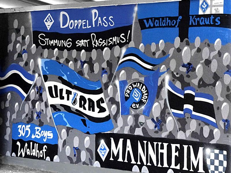 DoppelPass - 15-Jahre-DoppelPass-Graffiti im Carl-Benz-Stadion