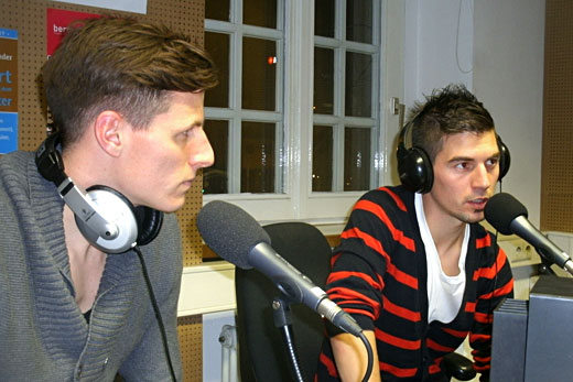 "Rainer Adolf und Martin Wagner am 4.01.2012 bei ""DoppelPass on Air"""