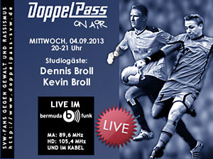 DoppelPass on Air: Studiogäste Dennis und Kevin Broll