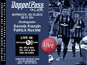 DoppelPass on Air: Studiogäste Dennis Franzin und Patrick Huckle