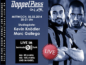 DoppelPass on Air: Studiogäste Kevin Knödler und Marc Gallego