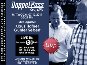 DoppelPass on Air: Studiogäste Klaus Hafner und Günter Sebert