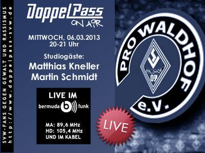 """DoppelPass - PRO Waldhof bei """"DoppelPass on Air"""""""