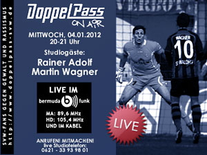 DoppelPass on Air: Studiogäste Rainer Adolf und Martin Wagner