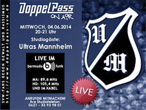 DoppelPass on Air: Studiogäste Ultras Mannheim 1999