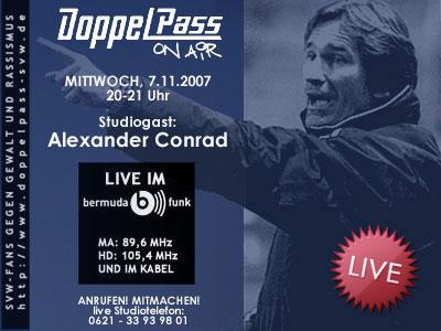 """DoppelPass - Alexander Conrad bei """"DoppelPass on Air"""""""