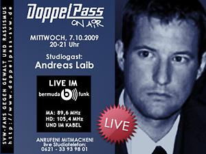 DoppelPass on Air: Studiogast Andreas Laib