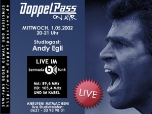 DoppelPass on Air: Studiogast Andy Egli