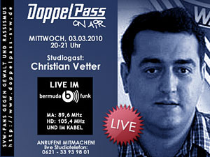 DoppelPass on Air:   Studiogast Christian Vetter