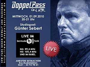 DoppelPass on Air: Studiogast Günter Sebert