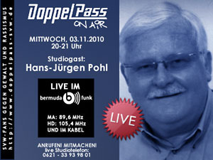 DoppelPass on Air: Studiogast Hans-Jürgen Pohl