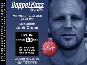 DoppelPass on Air: Studiogast Janis Crone
