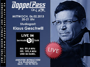DoppelPass on Air: Studiogast Klaus Geschwill