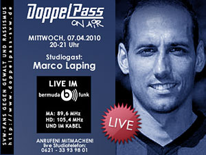 DoppelPass on Air:   Studiogast Marco Laping