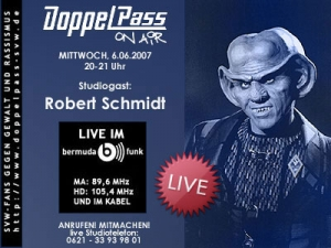 DoppelPass on Air: Studiogast Robert Schmidt