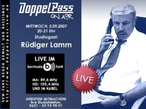 DoppelPass on Air: Studiogast Rüdiger Lamm