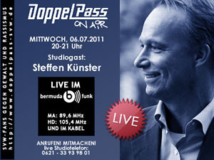 DoppelPass on Air: Studiogast Steffen Künster
