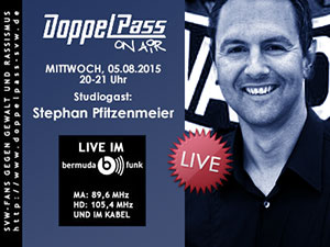 DoppelPass on Air: Studiogast Stephan Pfitzenmeier
